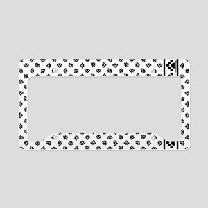 PawPrintPillowCaseBWfinal License Plate Holder