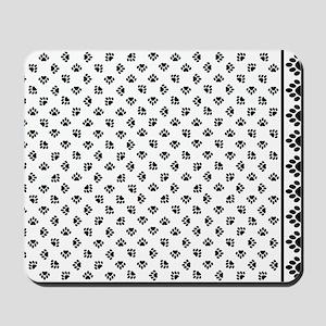 PawPrintPillowCaseBWfinal Mousepad