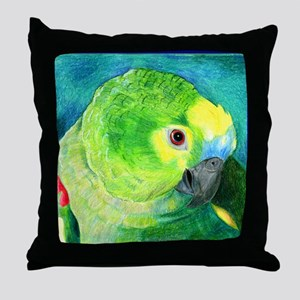 Blue-Fronted Amazon Throw Pillow