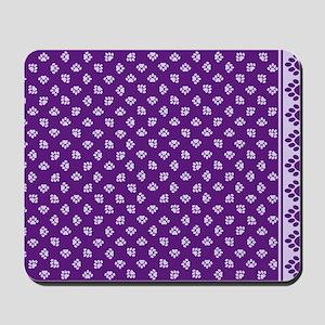 PawprintPCDeepPurpWLtPurple Mousepad