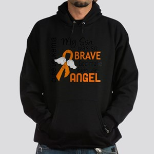 D Angel 2 Son Leukemia Hoodie (dark)