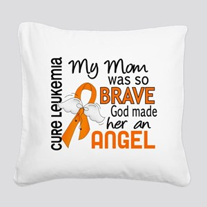 D Angel 2 Mom Leukemia Square Canvas Pillow