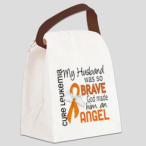 D Angel 2 Husband Leukemia Canvas Lunch Bag