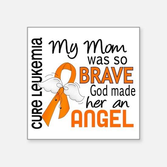 "D Angel 2 Mom Leukemia Square Sticker 3"" x 3"""