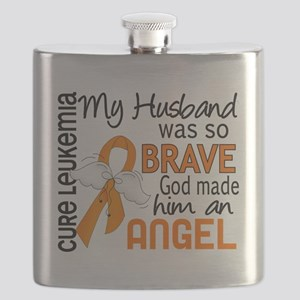 D Angel 2 Husband Leukemia Flask