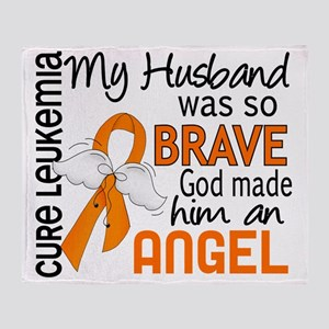 D Angel 2 Husband Leukemia Throw Blanket