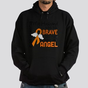 D Angel 2 Husband Leukemia Hoodie (dark)