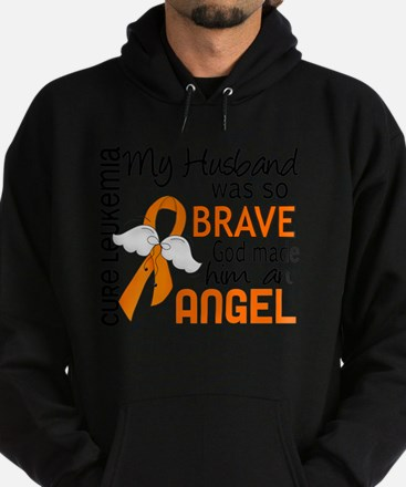D Angel 2 Husband Leukemia Hoodie (dark)