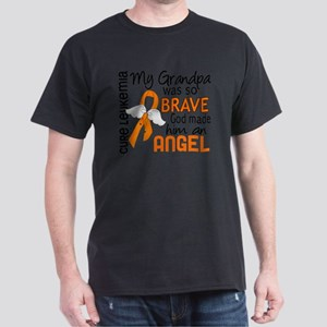 D Angel 2 Grandpa Leukemia Dark T-Shirt