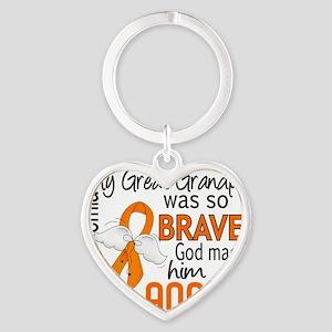 D Angel 2 Great Grandpa Leukemia Heart Keychain