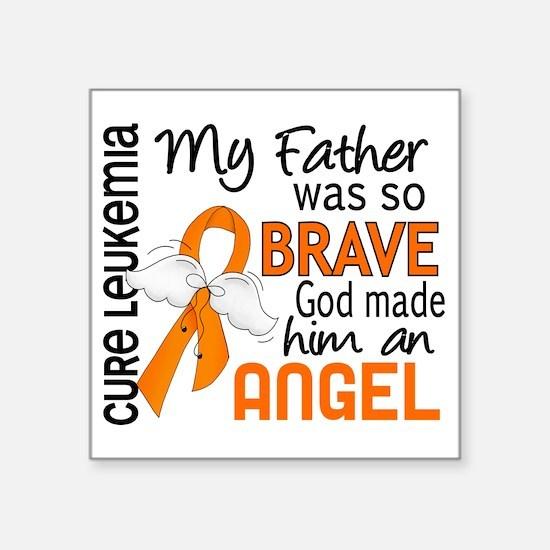 "D Angel 2 Father Leukemia Square Sticker 3"" x 3"""