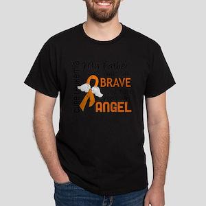 D Angel 2 Father Leukemia Dark T-Shirt