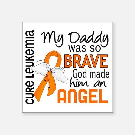 """D Angel 2 Daddy Leukemia Square Sticker 3"""" x 3"""""""