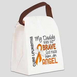 D Angel 2 Daddy Leukemia Canvas Lunch Bag