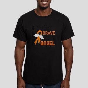 D Angel 2 Dad Leukemia Men's Fitted T-Shirt (dark)