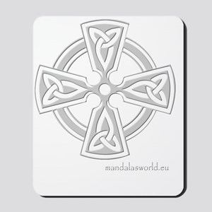 Celtic Cross n6 Lightgrey Mousepad