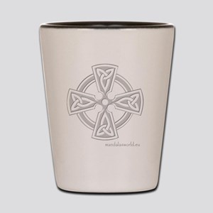 Celtic Cross n6 Lightgrey Shot Glass