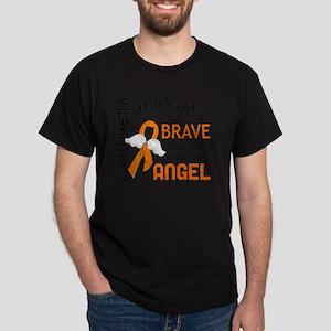 D Angel 2 Dad Leukemia Dark T-Shirt
