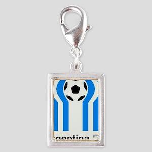 ARGENTINA 1978 Silver Portrait Charm