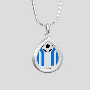ARGENTINA 1978 Silver Teardrop Necklace