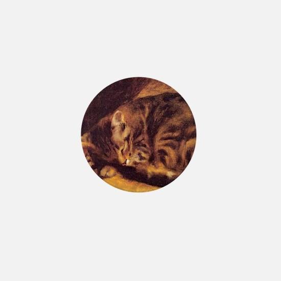 Sleeping Cat Mini Button