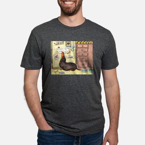 Weighty Weiner Dog Ash Grey T-Shirt
