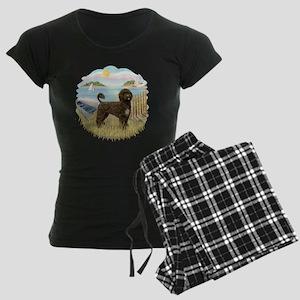 RowBoat-BrownPWD2C Women's Dark Pajamas
