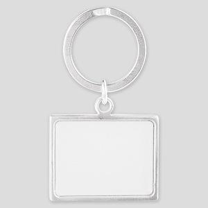shiba inu mess white Landscape Keychain