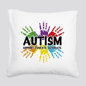 Autism Square Canvas Pillow