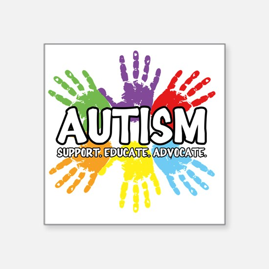 "Autism Square Sticker 3"" x 3"""