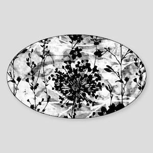 GardenBWgPilloC Sticker (Oval)