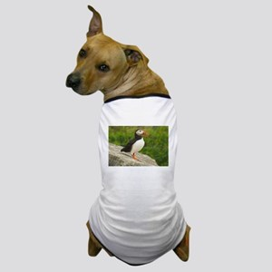 PuffinsForTheBirds-whiteLetters copy Dog T-Shirt