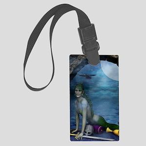 MERMAIDS_Mermaid_At_The_Window_n Large Luggage Tag