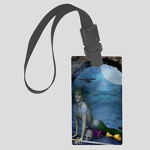 MERMAID_Mermaid_At_The_Window_jo Large Luggage Tag