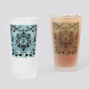 BeeFloralBluQduvet Drinking Glass