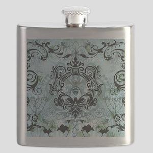 BeeFloralBluQduvet Flask