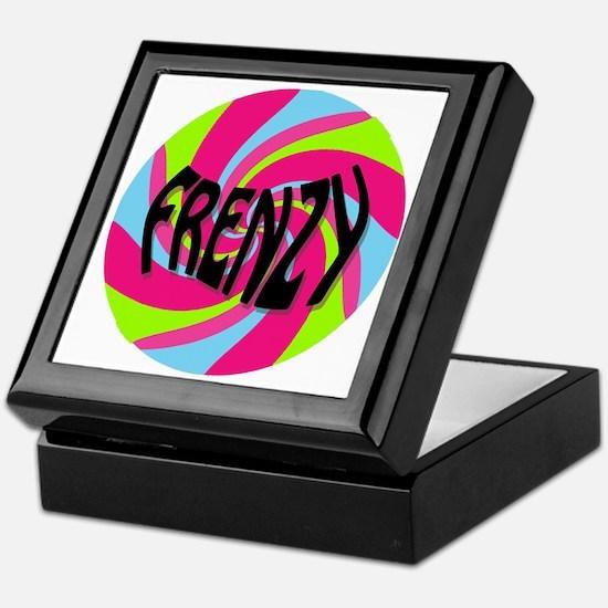Frenzy_circle_t_shirt2 Keepsake Box