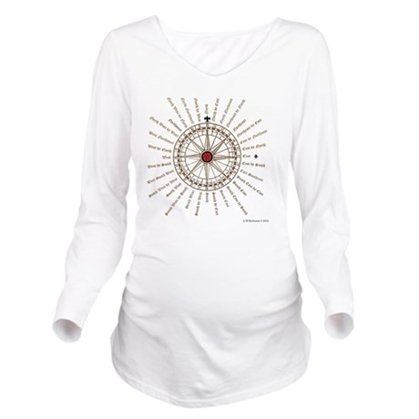 #V-62 Compose square Long Sleeve Maternity T-Shirt