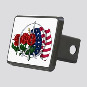 Stars and Roses Rectangular Hitch Cover