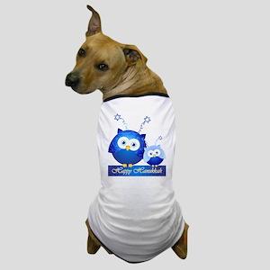Happy Hanukkah Owls Dog T-Shirt