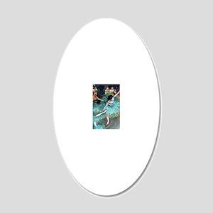 iPad Degas GreenD 20x12 Oval Wall Decal