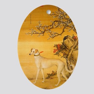 Standing Fawn Oval Ornament