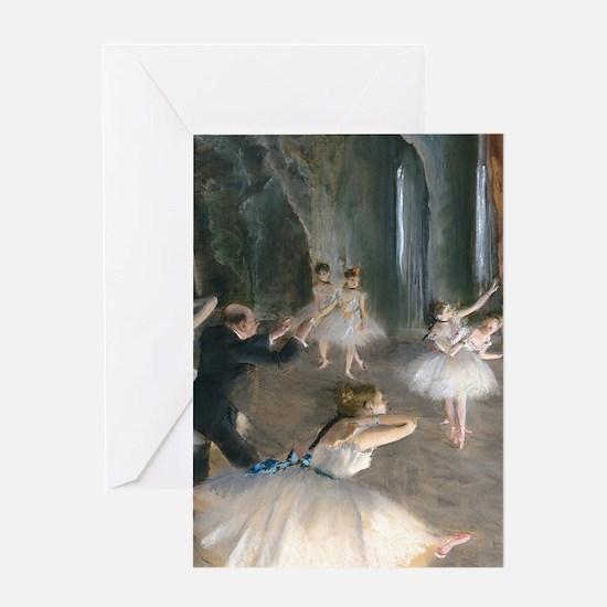 K/N Degas Onstage Greeting Card