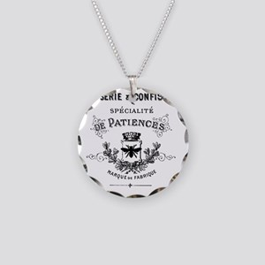 Patisserie-Sign Necklace Circle Charm