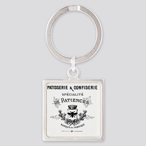 Patisserie-Sign Square Keychain