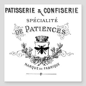 "Patisserie-Sign Square Car Magnet 3"" x 3"""