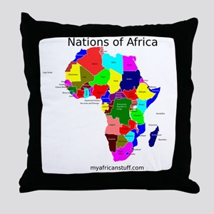 africa puzzle Throw Pillow