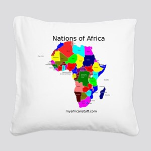 africa puzzle Square Canvas Pillow