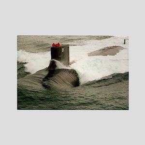 seawolf framed panel print Rectangle Magnet