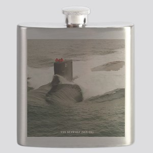 seawolf framed panel print Flask